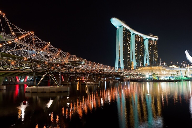 Helix bridge in Syngapore