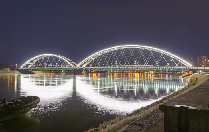 Zezeljs bridge in Novi Sad